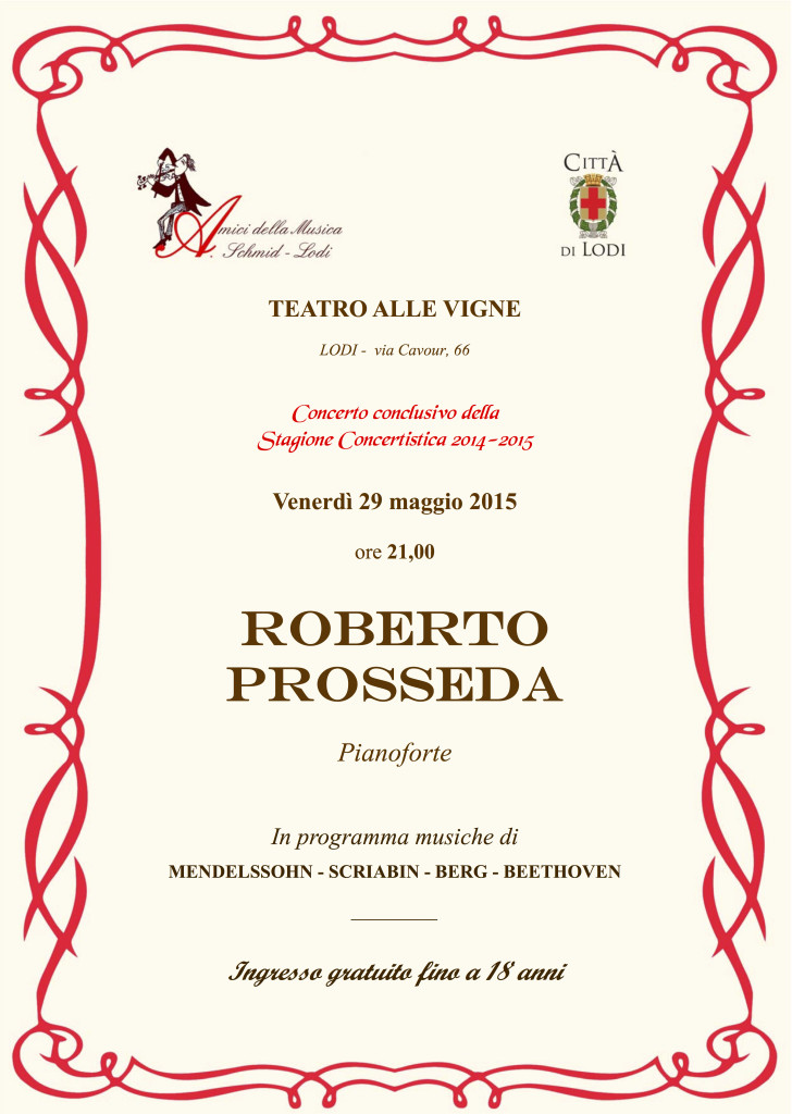 Locandina Prosseda 29.5.15