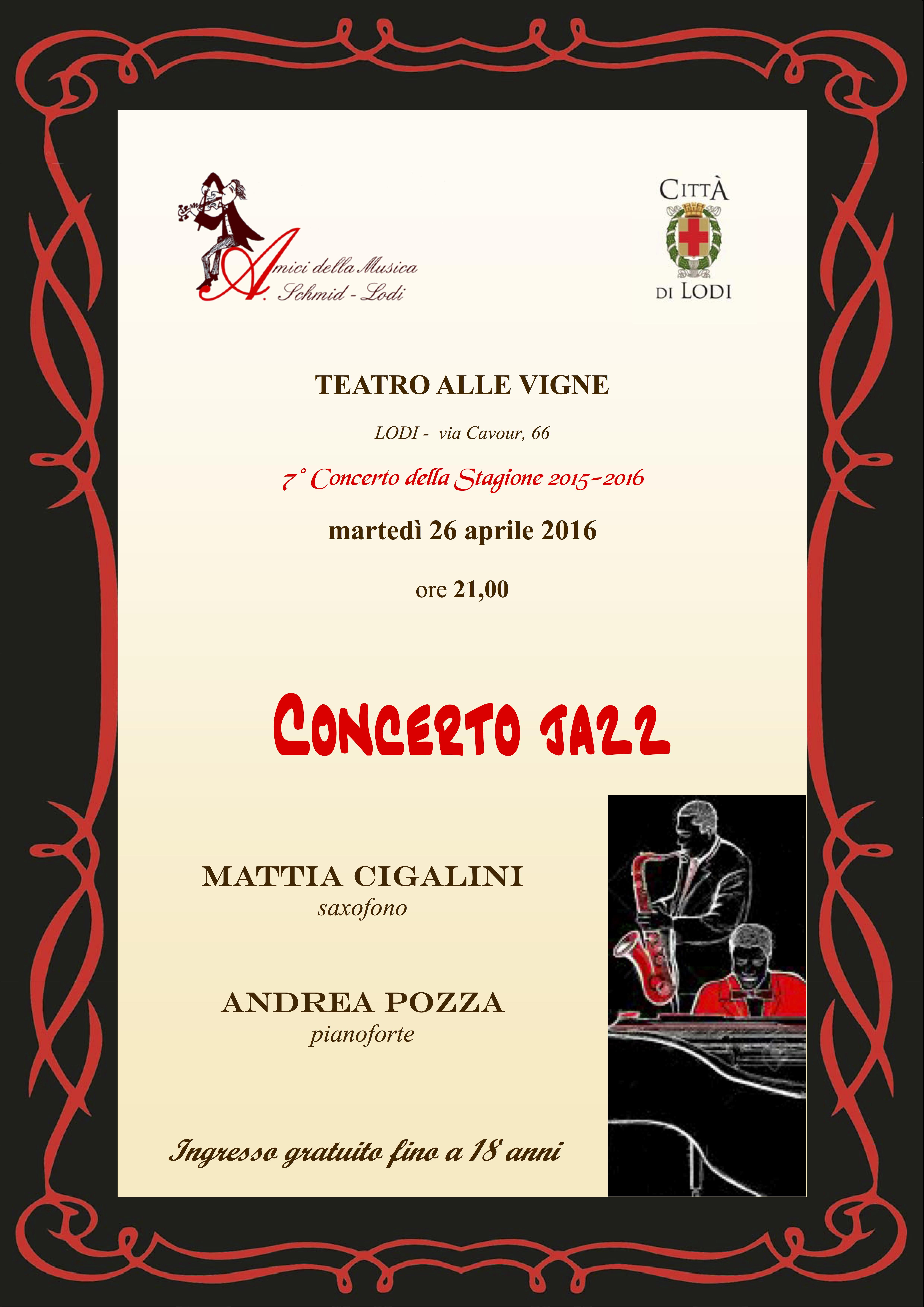 Locandina Jazz 26.4.2016